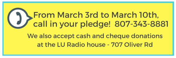 how to call in your pledge - call 807-343-8881. We also accept cash and cheque donations at the station on 707 Oliver Road