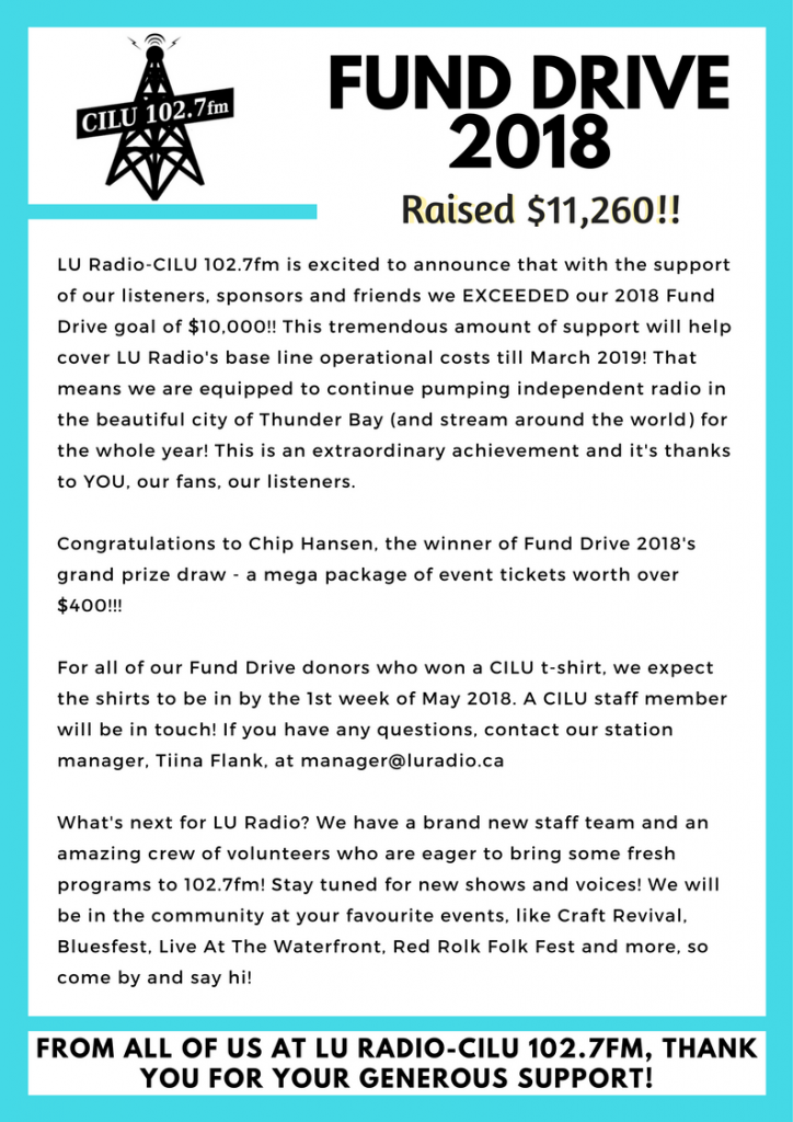 fund drive 2018 thank you letter